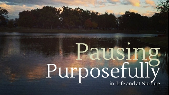 Pausing Purposefully in Life and at Nurture